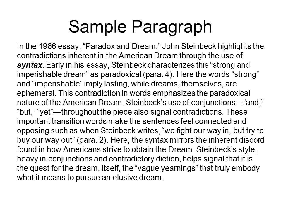 american dream essay hook