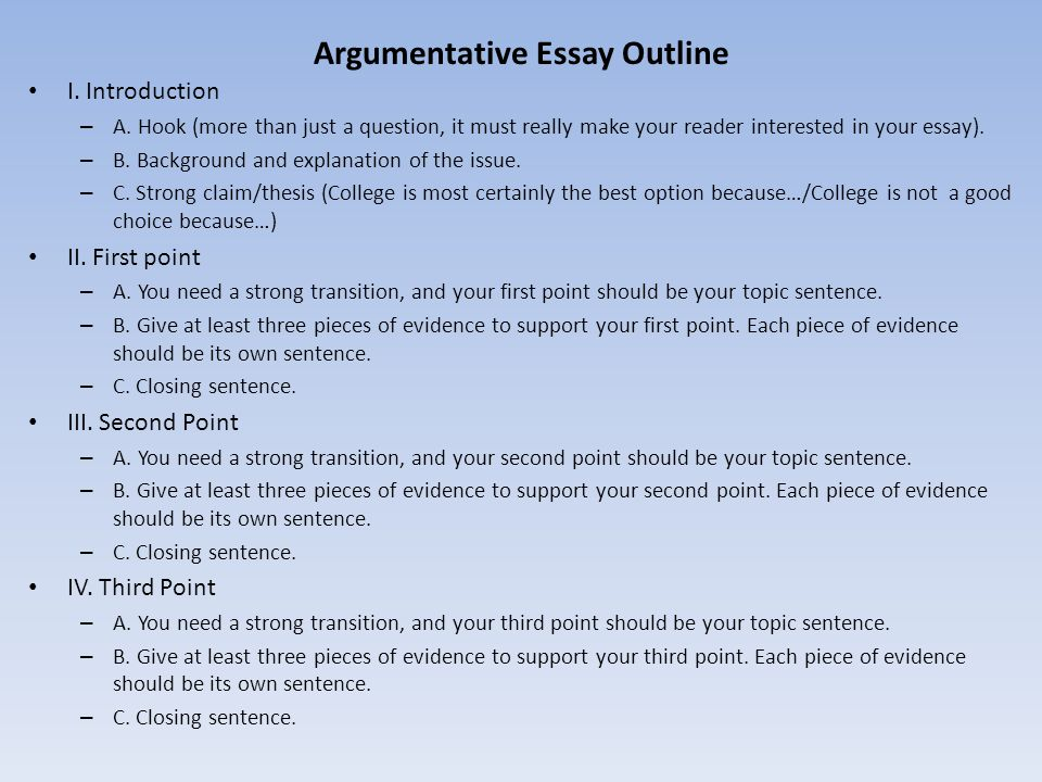 Introduction For An Argumentative Essay