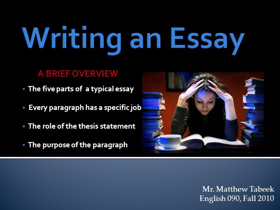 five part essay