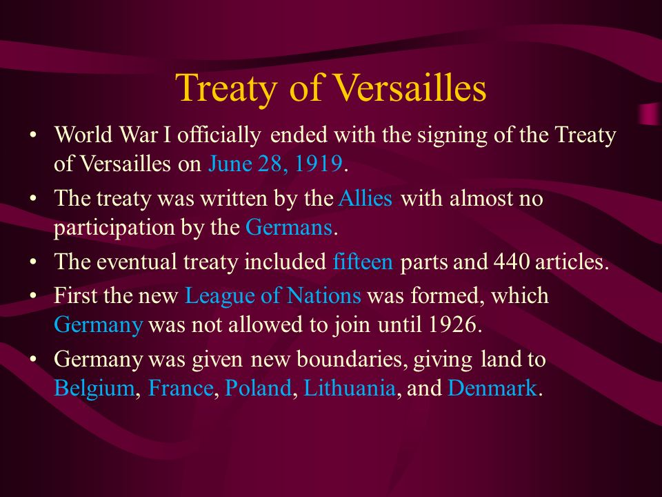 Causes of WWII Treaty of Versailles Great Depression Rise of ...
