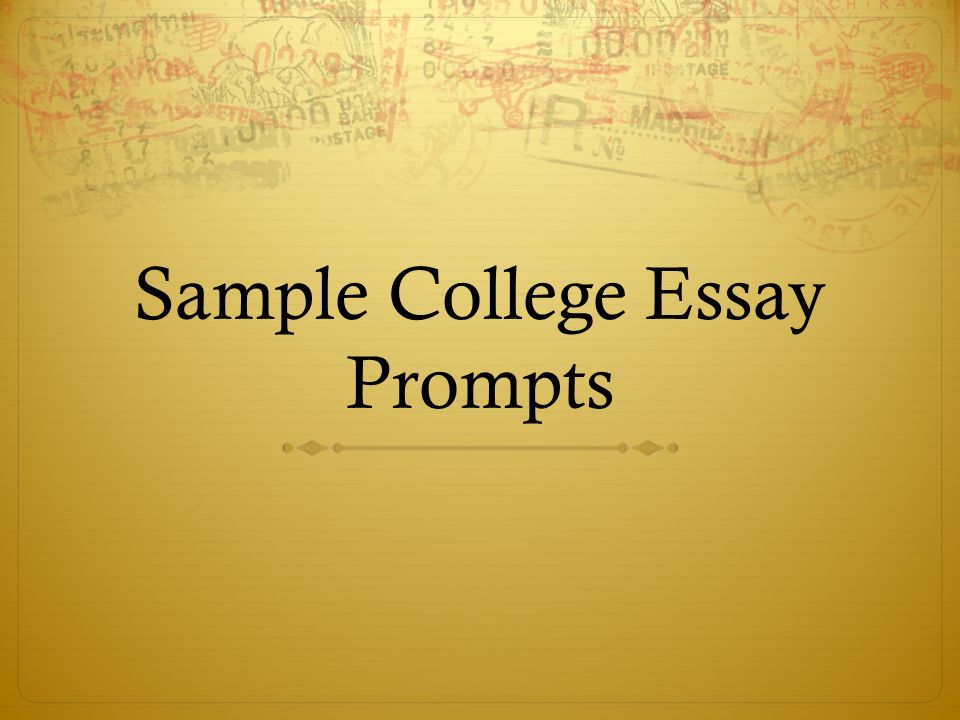 Sample College Essay