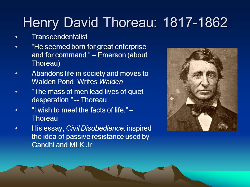 walden transcendentalism essay Henry thoreau's masterpiece, walden or a life in the woods, shows the impact transcendentalism had on thoreau's worldview transcendentalism is a philosophy that asserts the primacy of the spiritual over the material.