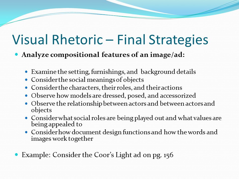"visual narrative analysis essay Rhetorical analysis sample essay harriet clark ms rebecca winter cwc 101 13 feb 2015 not quite a clean sweep: rhetorical strategies in grose's ""cleaning: the final feminist frontier."