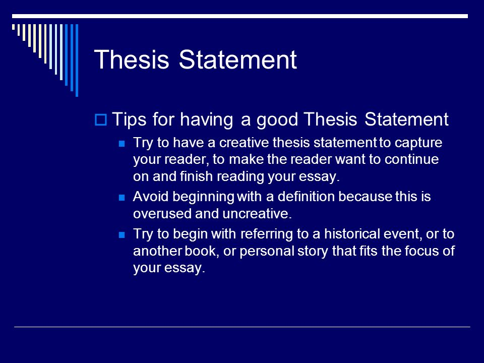 9 Thesis Statement  Tips ...