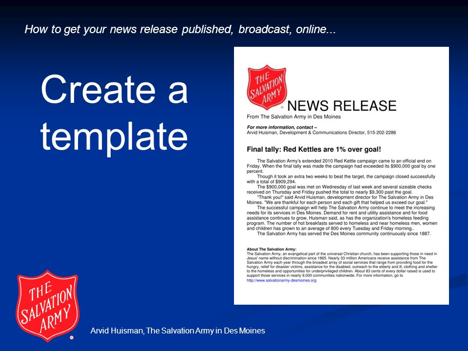 Army template eliolera arvid huisman the salvation army in des moines how to get your toneelgroepblik Images