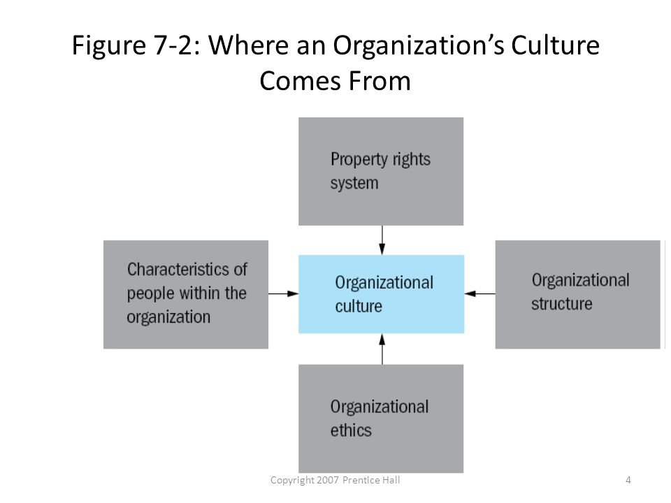 Copyright 2007 Prentice Hall4 Figure 7-2: Where an Organization's Culture Comes From
