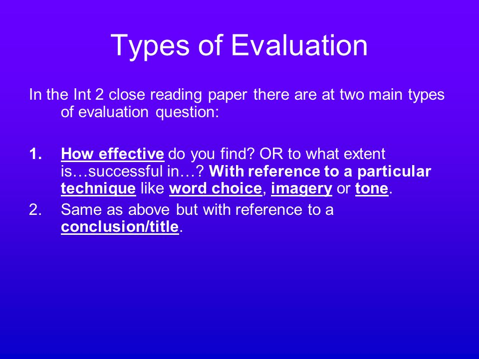 evaluate essay question Need an evaluation essay topic list of 100 topic ideas, plus links and sample essays many resources for how to write your paper.