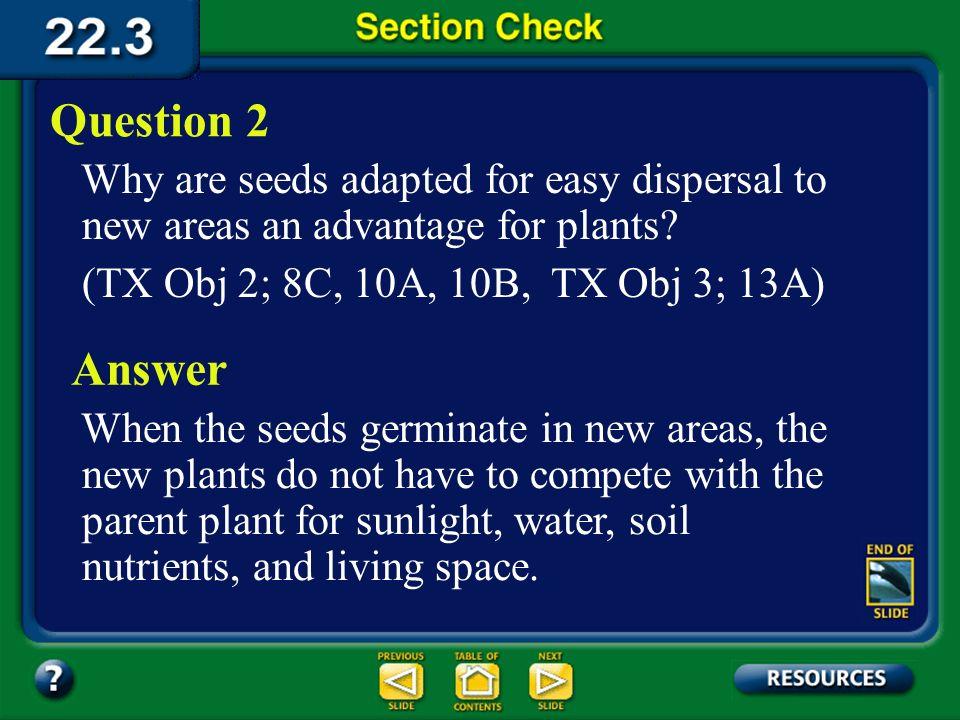 Section 3 Check A pollen grain contains a _______.
