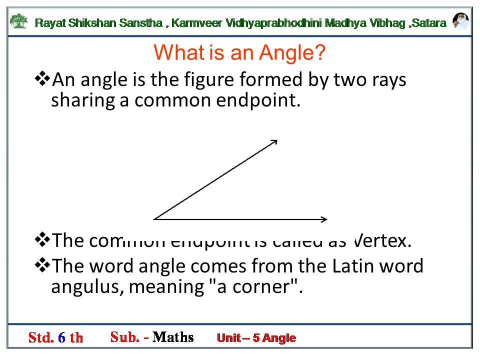 Sub. :- Mathematics Std. :- 6 th Chapter no. 5. If we look around ...