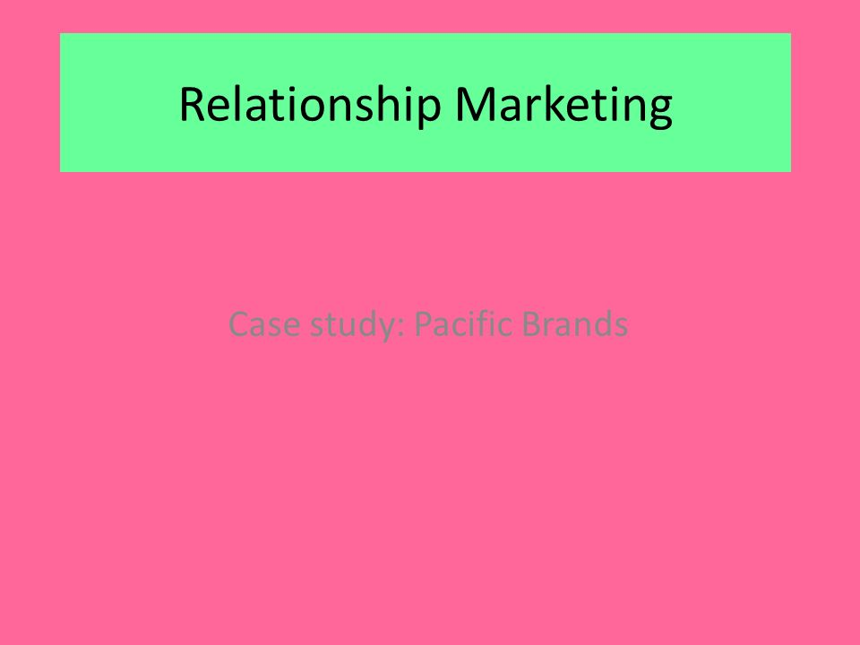 PACIFIC BRANDS COMPANY DIRECTORY Course Hero Pacific Brands Case Study Analysis   by Kyleysmart   Anti Essays