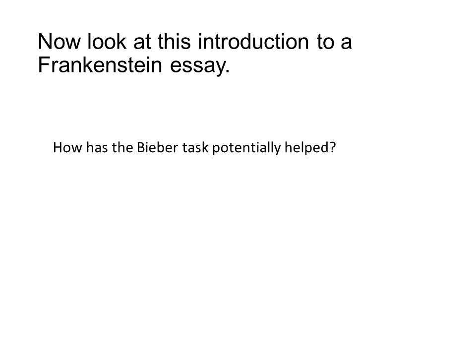 final revision litb on the next handout slide the 16 now look at this introduction to a frankenstein essay