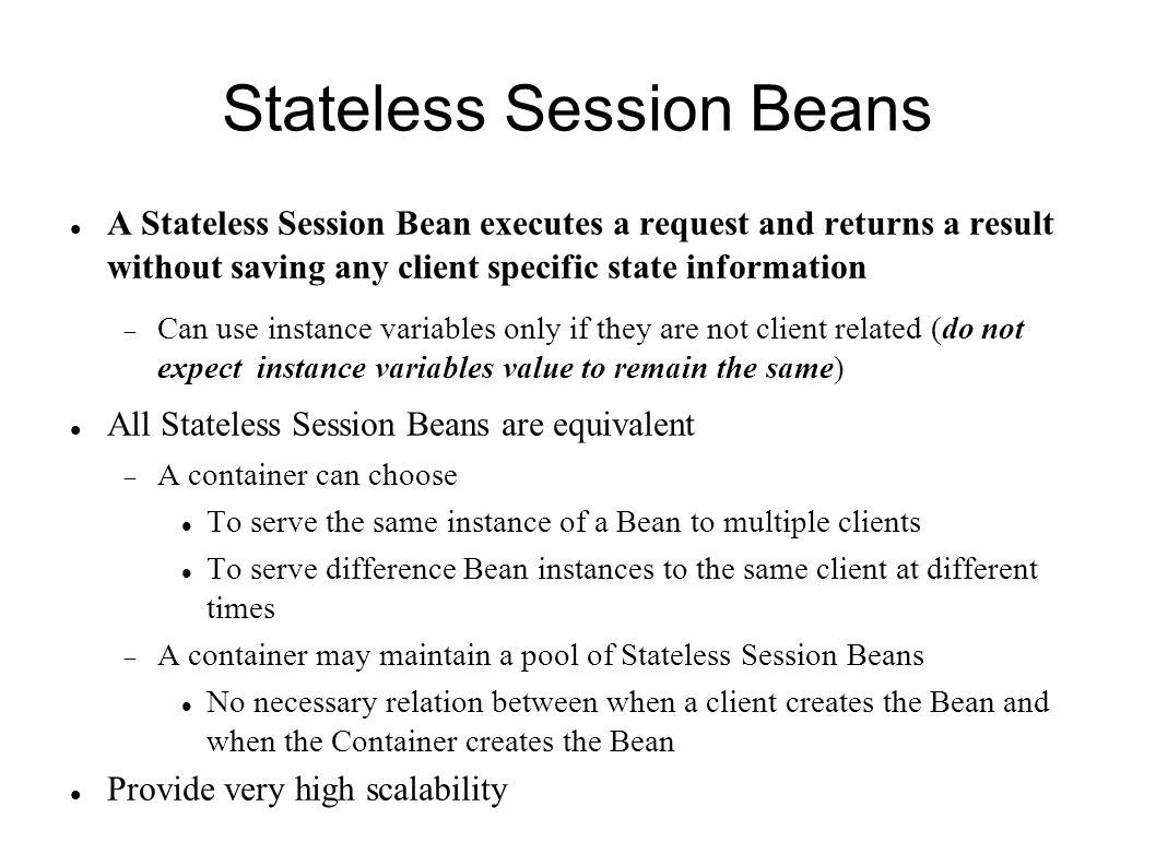 Session beans based on patel brose silverman mastering 4 stateless baditri Images
