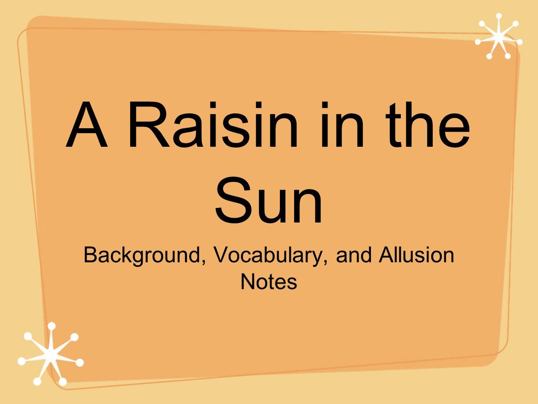 themes of a raisin in the sun essays