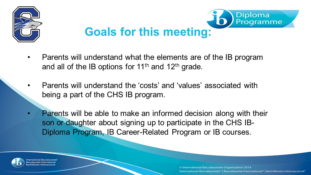 expectations from the international baccalaureate program International baccalaureate program credits baccalaureate program the international baccalaureate curriculum is the most expectations how to prepare for.