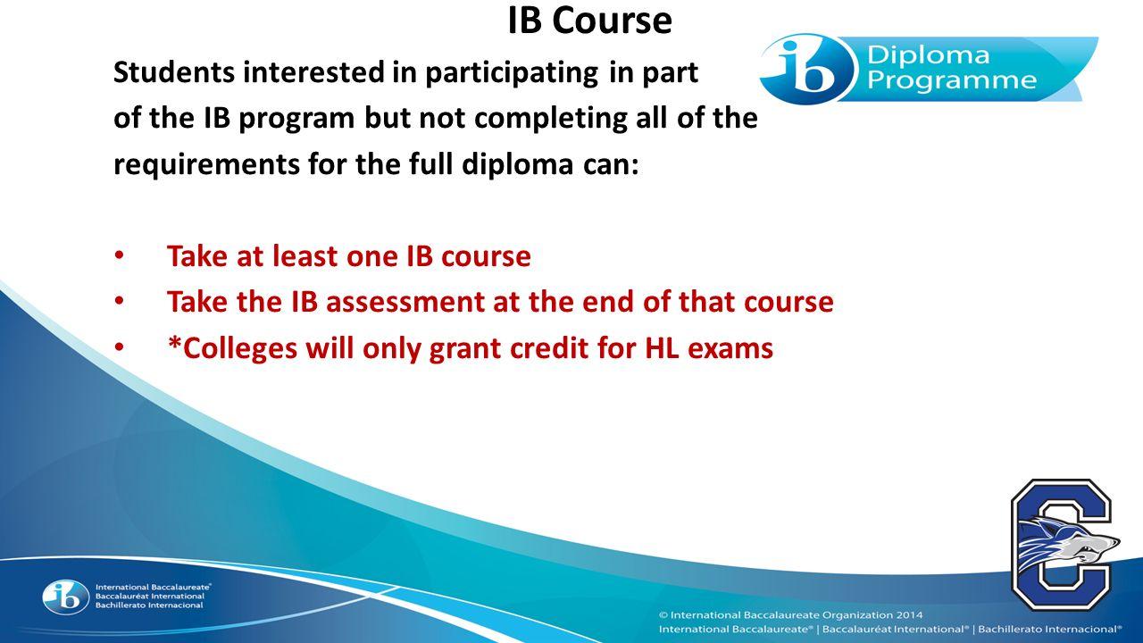 Should I do the full IB program?