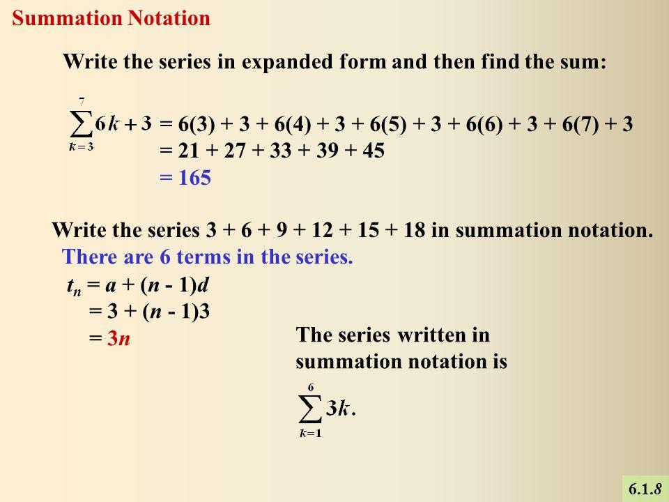 Sigma Notation Expanded Form Nurufunicaasl
