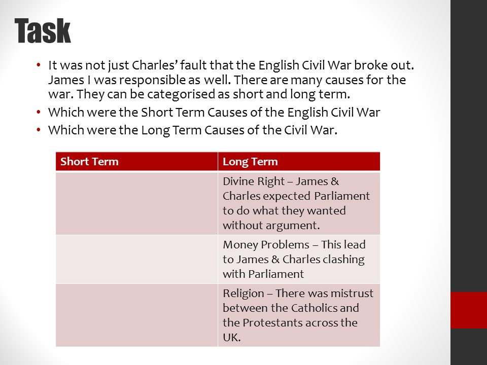 causes of the english civil war essay the causes of the english  walt what were the causes of the english civil war what could task it was not