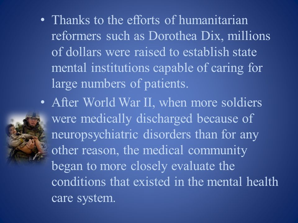 Psychiatric problems in world war i