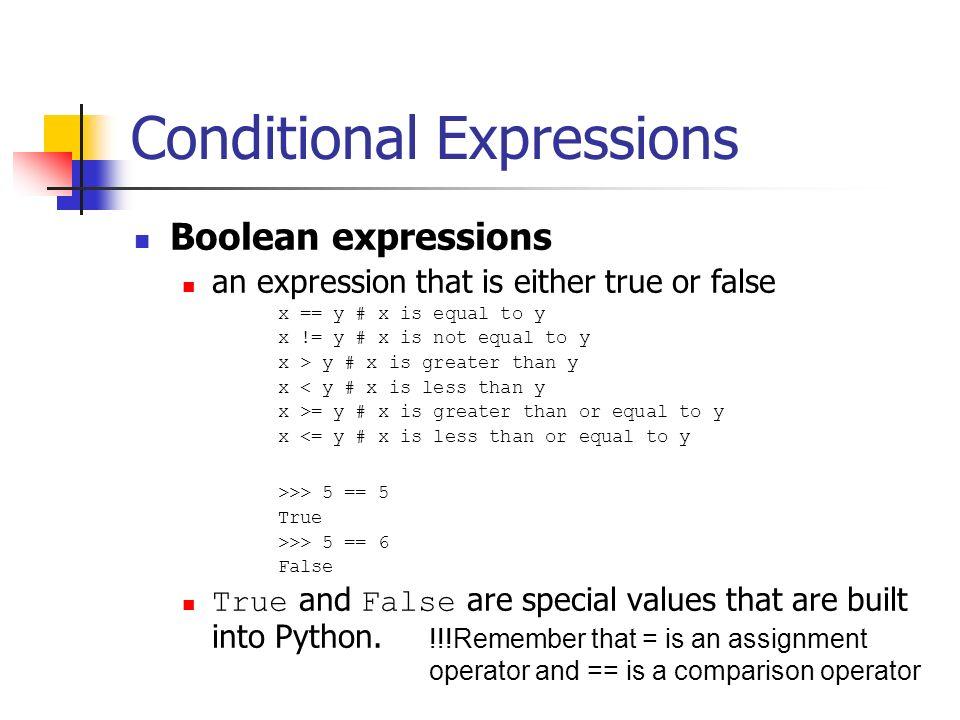 Python conditional assignment