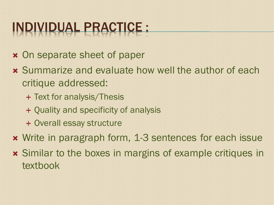 how to write a critique essay an evaluation essay