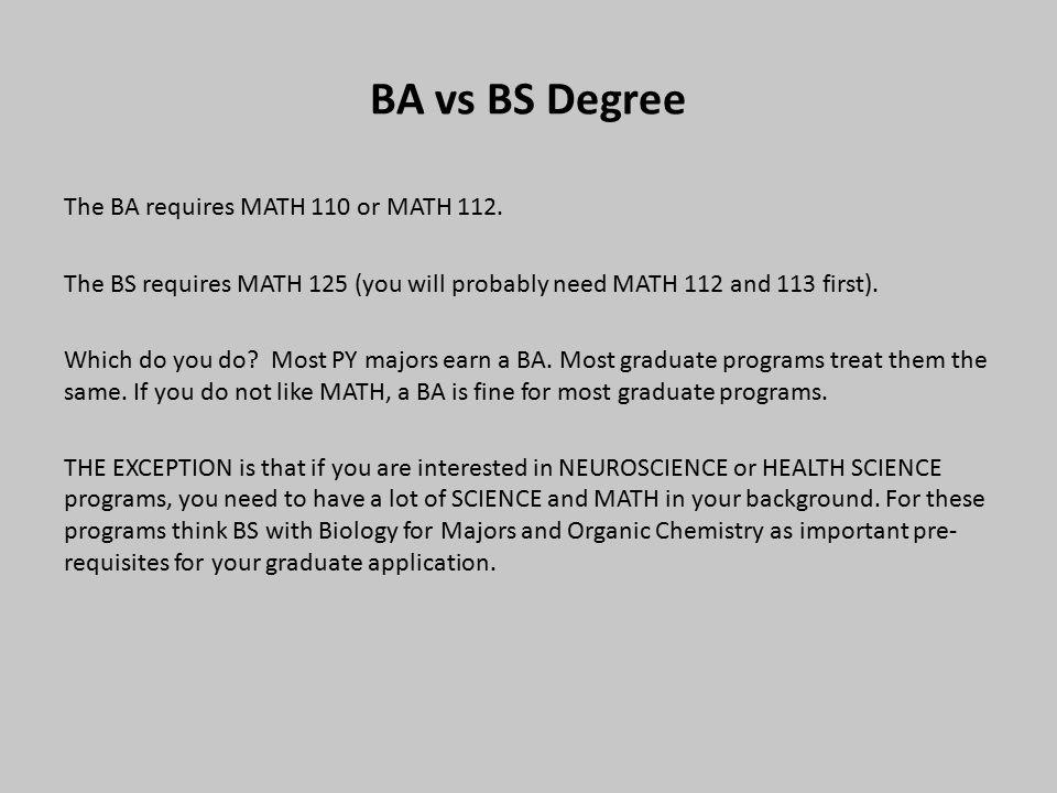 B.A. vs B.S. in Mathematics?