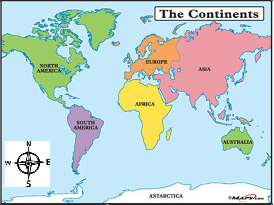United States Map Cardinal Directions - Free Usa Maps