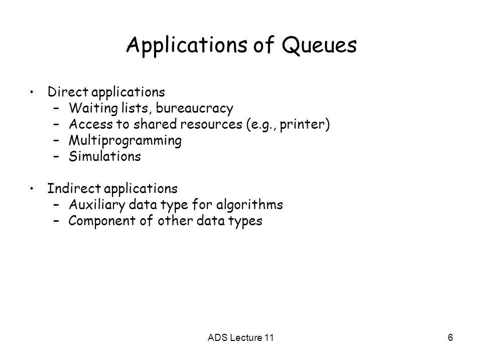 queue applications Queue. Avoid confusion Britain Italy 6 Applications of Queues Direct ...