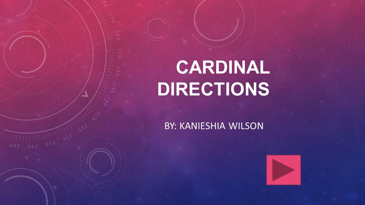 CARDINAL DIRECTIONS BY: KANIESHIA WILSON
