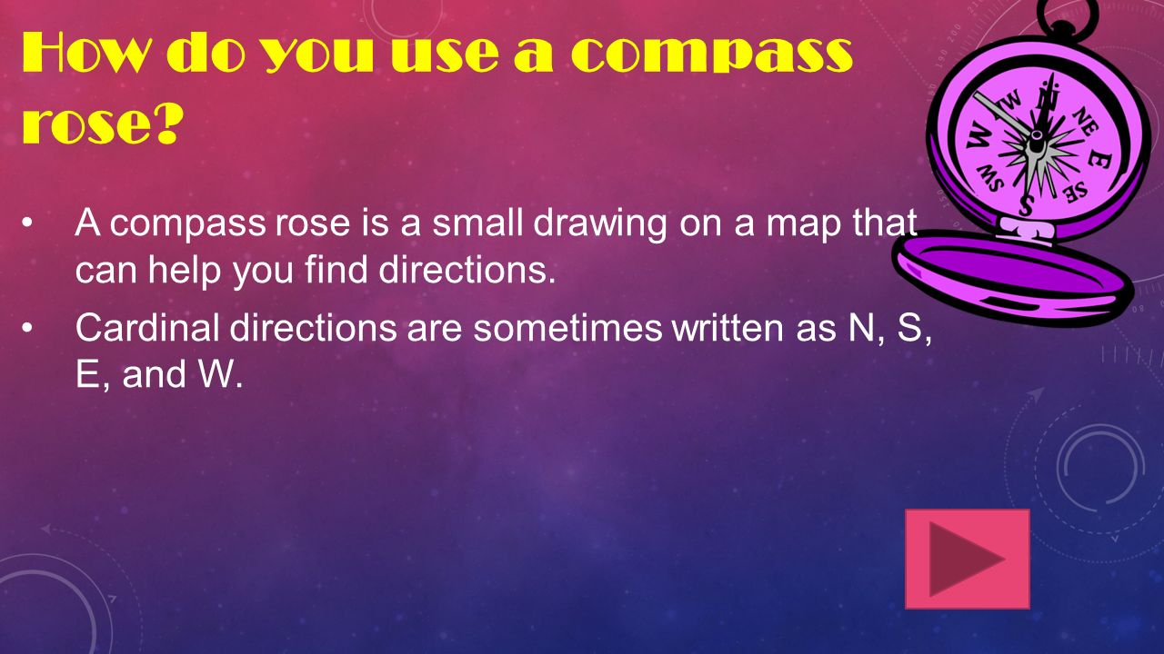 How do you use a compass rose.