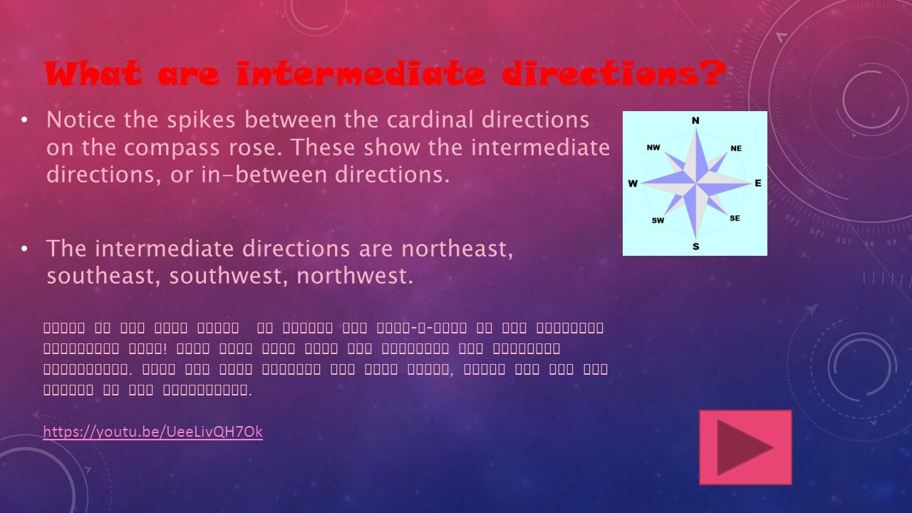 What are intermediate directions.