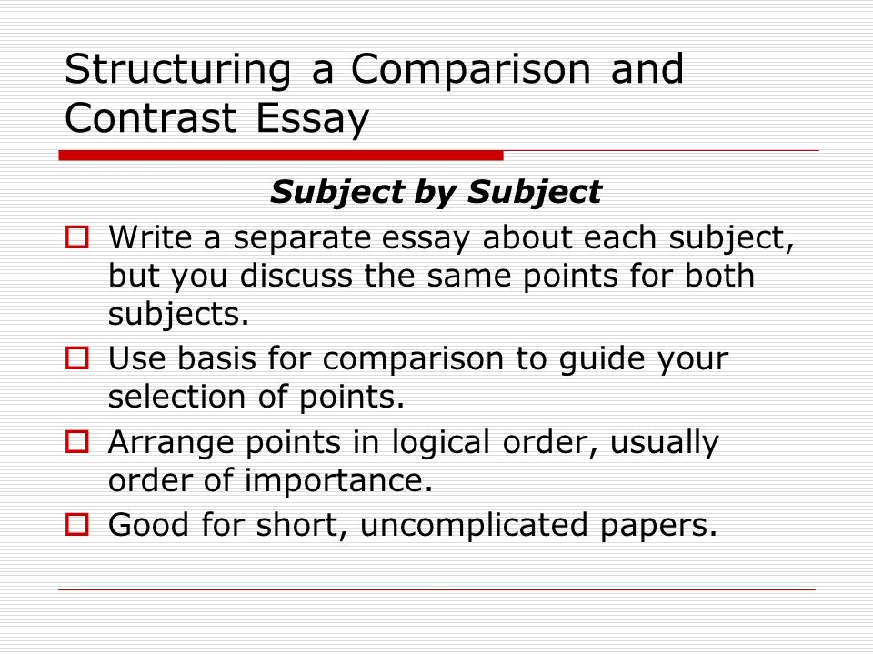 help writing a comparison and contrast essay The compare and contrast essay, also called the comparison and contrast essay, requires the writer to compare the differences and similarities between two or.