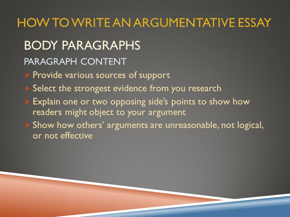 logical argumentative essay - aspects of an argumentative essay the argumentative essay is an essay in which you argue a point -- an essay in which you prove a thesis the argumentative essay starts with an introduction the introduction is the gateway into your paper, and it serves two roles.