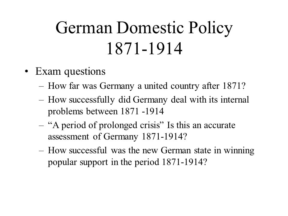 how important was bismarck to german unification essay