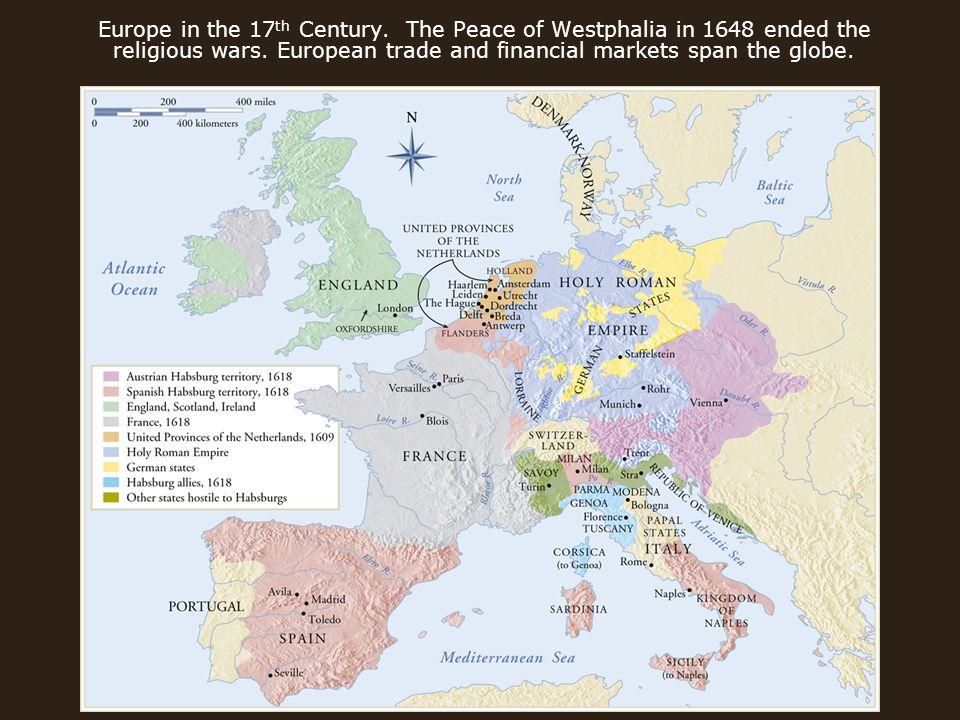 Baroque Art Th Century Europe In The Th Century The - Europe map 1648 westphalia