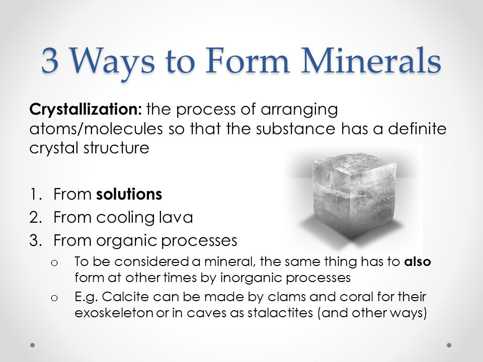 Forming Rocks & Minerals December 1, th grade Chapter 9.1, part ...