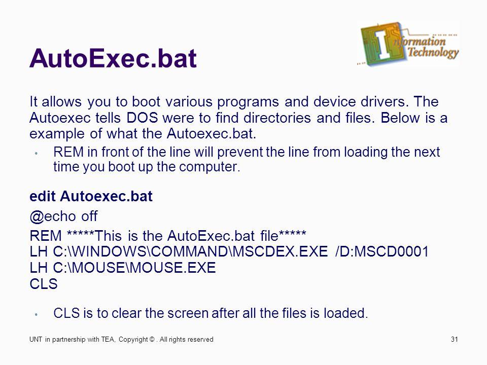 Edit Autoexec Bat In Dosbox Help