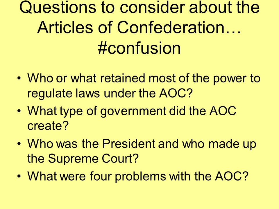 Quesions on; after the american revolution..?