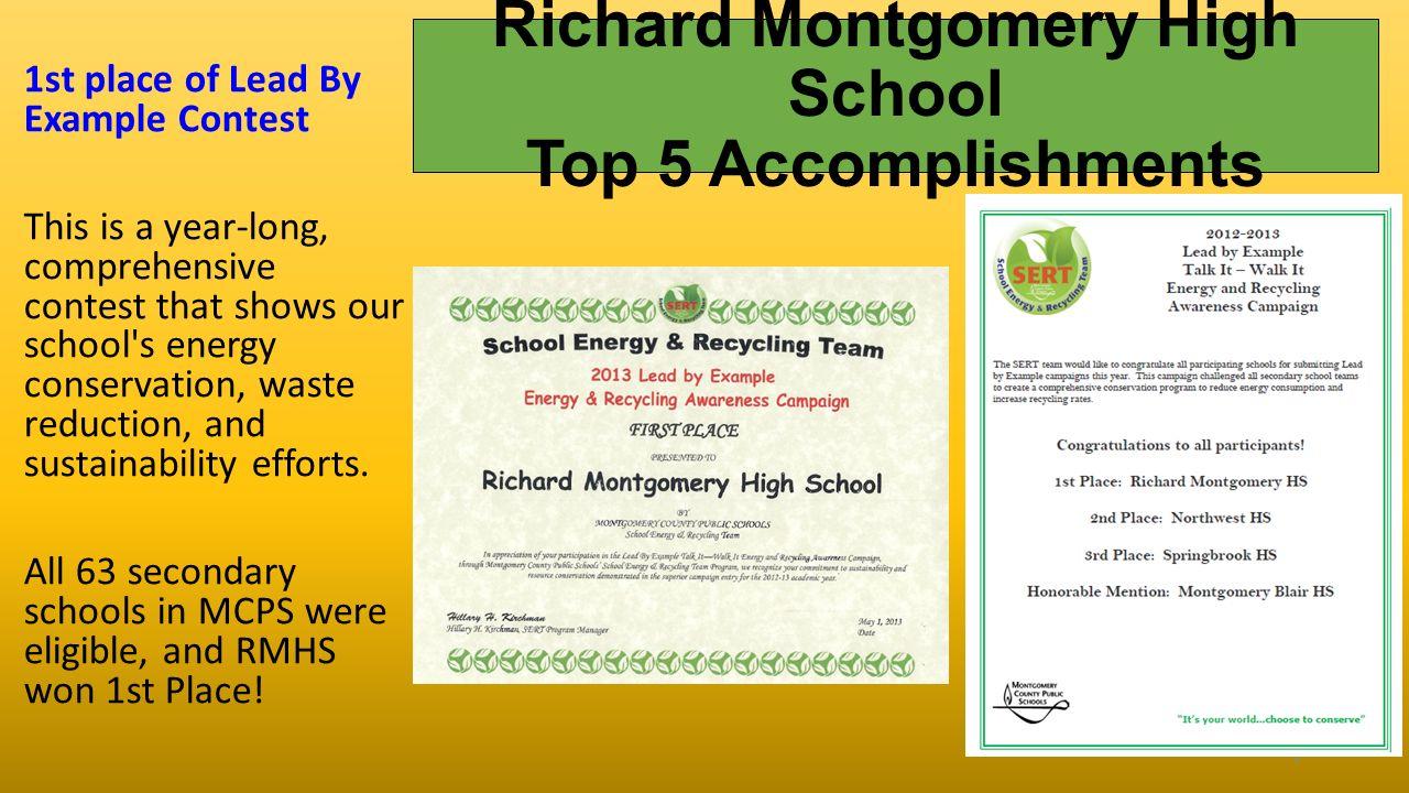 high school accomplishments