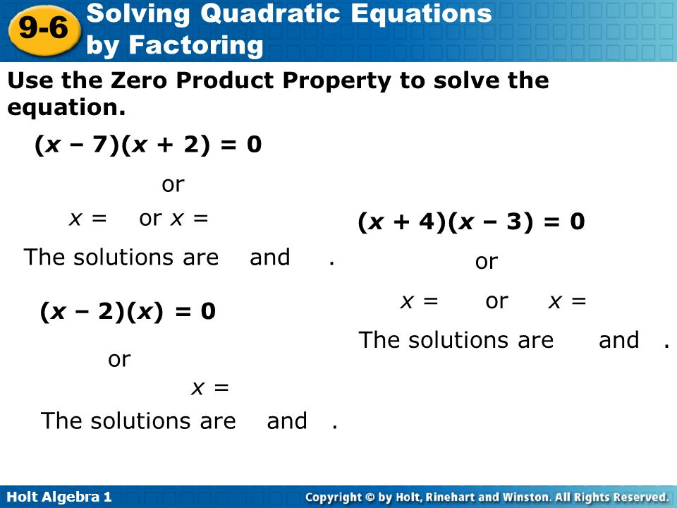 Solving Quadratic Equations With Square Roots Worksheet Answers – Solving Equations by Factoring Worksheet
