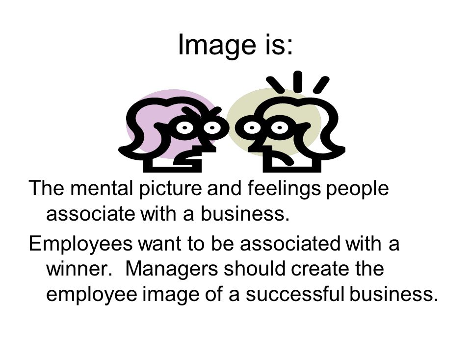 Image is: The mental picture and feelings people associate with a business.