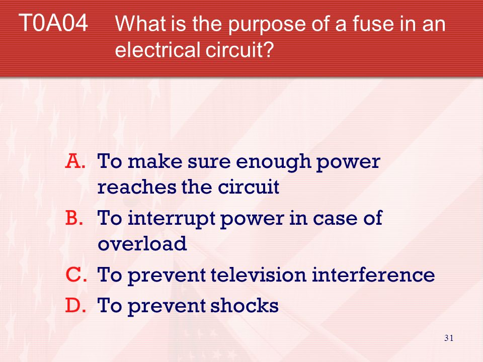 30 T0A03 What is connected to the green wire in a three-wire electrical plug.