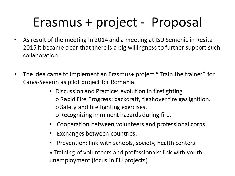 Towards An Erasmus Project Train The Trainer Belgian Commitees Are