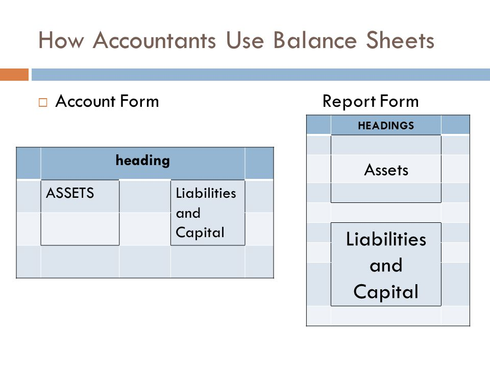 report form balance sheet