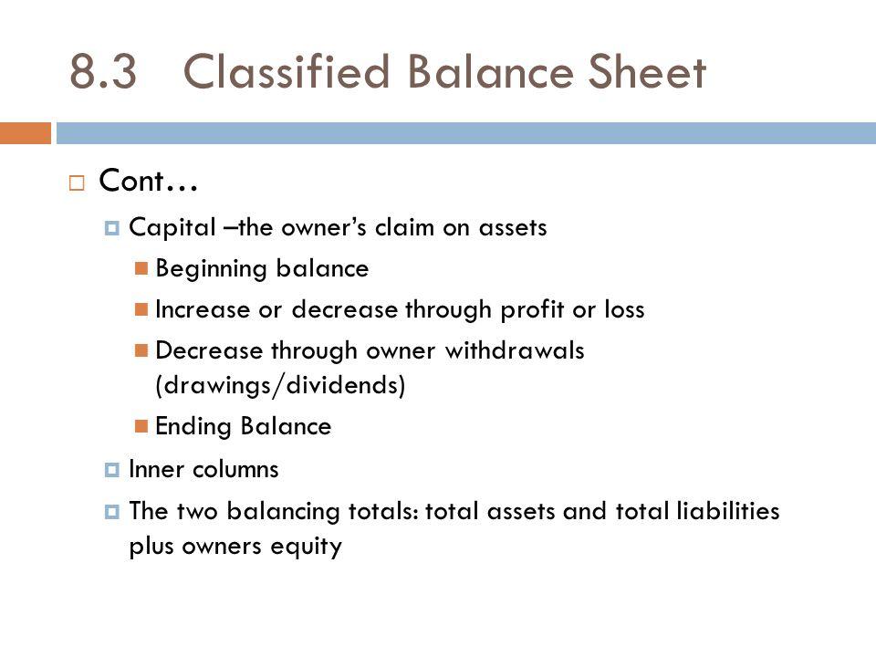 balancing sheets