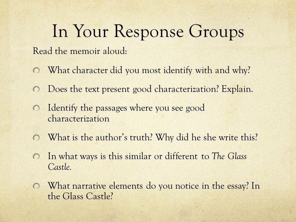 memoir examples essay