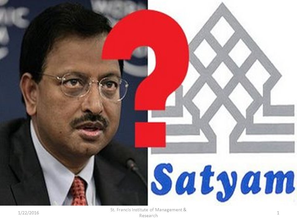 project on satyam scam