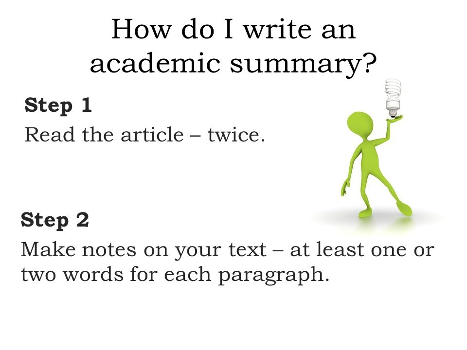 How to write a brief summary of an article