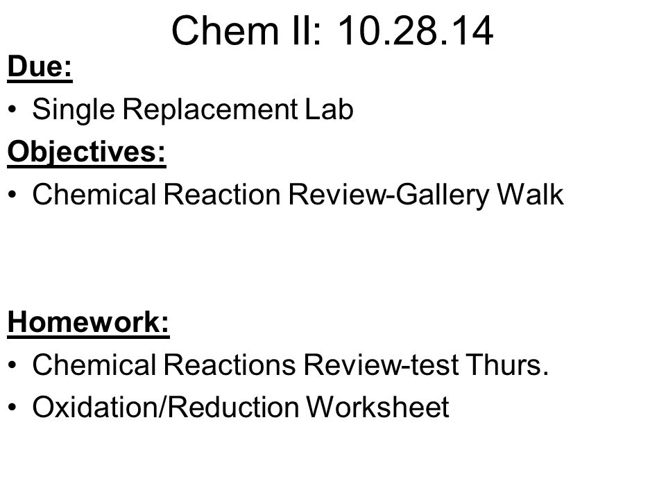 Chem II Objectives Chemical Bonding Corrections Classify and – Six Types of Chemical Reaction Worksheet Answers