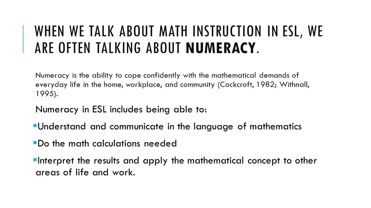 worksheet Workplace Numeracy Worksheets wioa numeracy and employability skills what exactly are they ppt when we talk about math instruction in esl often talking numeracy