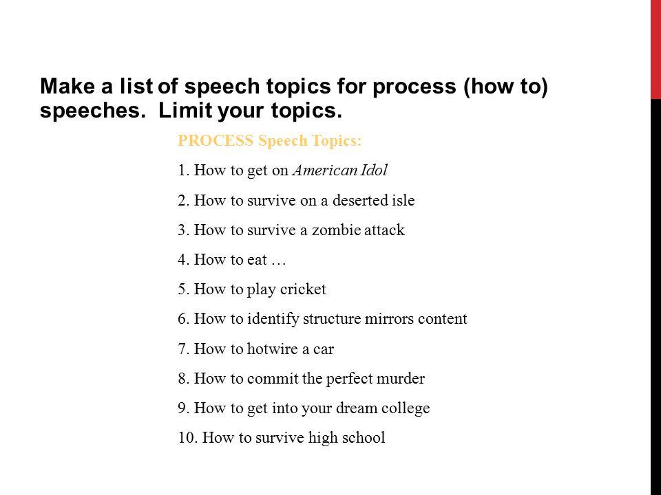 how to speech ideas for high school